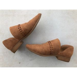 Low ankle cut out booties